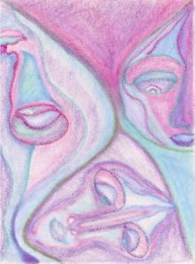 Cosmic Faces Underwater